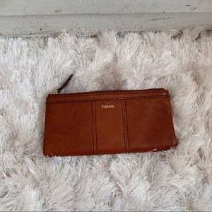 Fossil Tan Cognac Leather Wallet